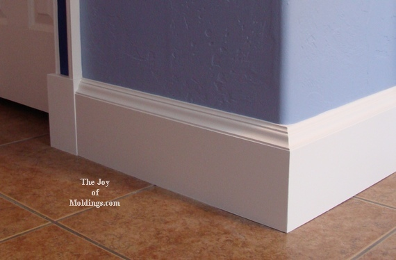 Baseboard 110 kitchen makeover the joy of Modern floor molding