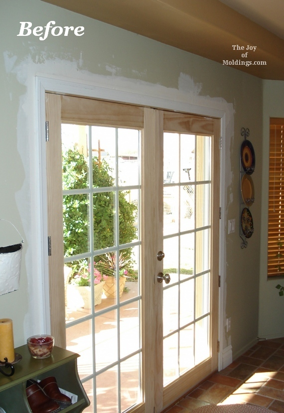 painted door trim for french double doors