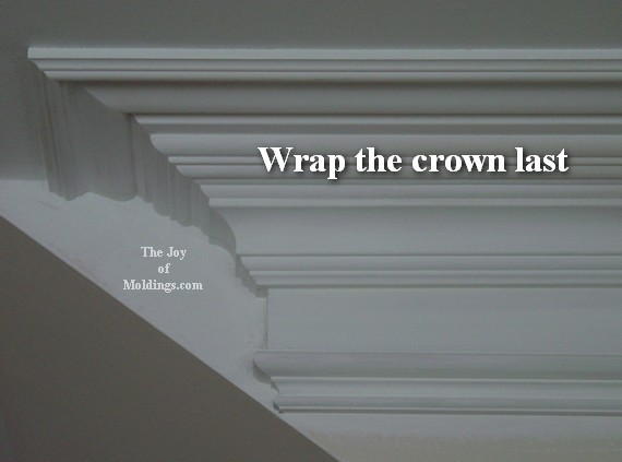 How to cut crown molding angles for kitchen cabinets.