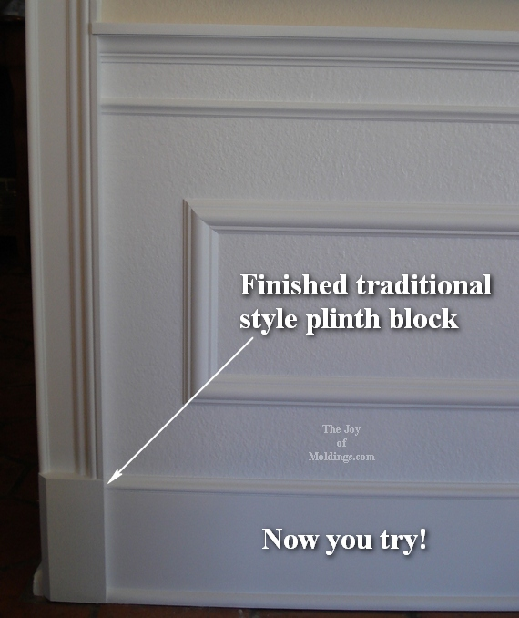 diy door trim molding with plinth block