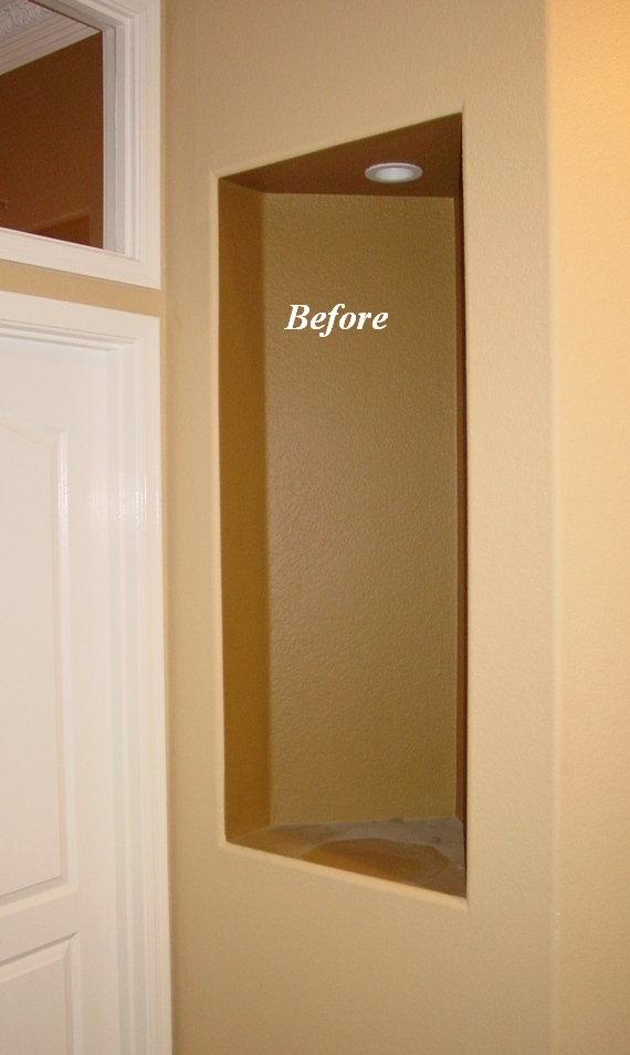 hallway wall niche with no moldings