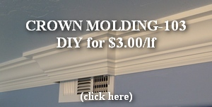 kitchen crown molding buildup