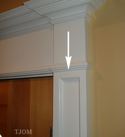 how to make diy pilaster for door trim molding