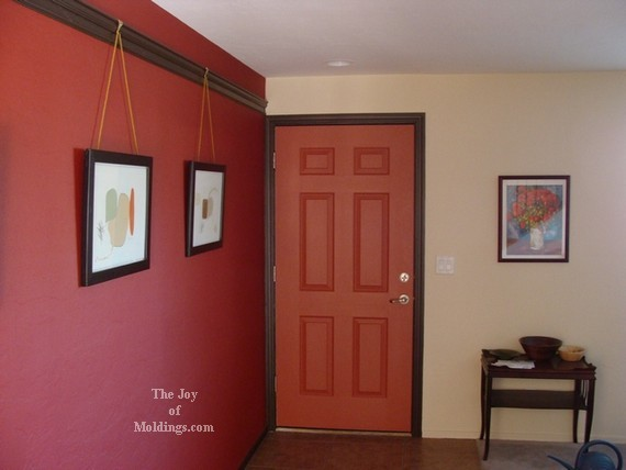 The Red Ish Front Door With Dark Colored Trim Images Frompo