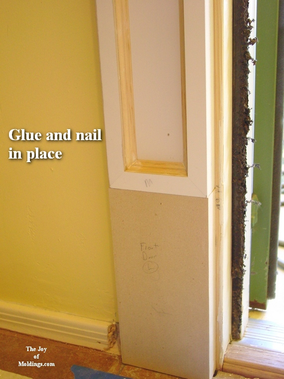 how to install pilaster installed on plinth block moldings