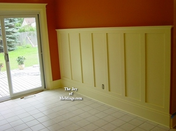 easy to install mdf diy wainscoting