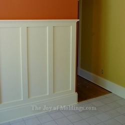 how to install tall wainscoting