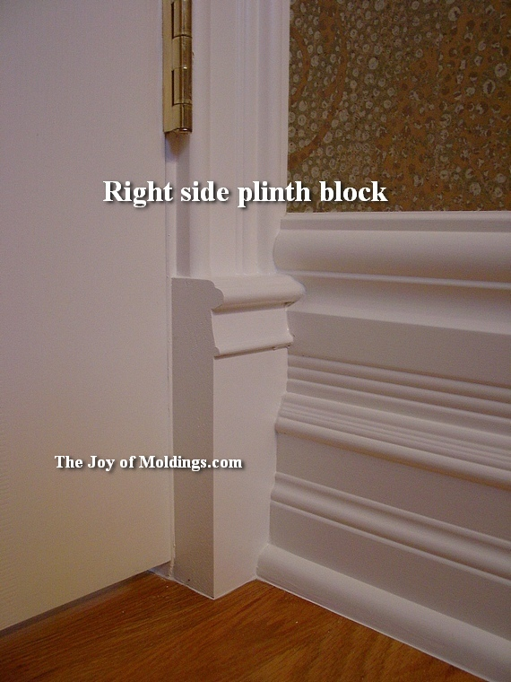 Chair Rail End Blocks Part - 17: Baseboards And Plinth Blocks | DIY | Pinterest | Baseboard, Doors And  Moldings