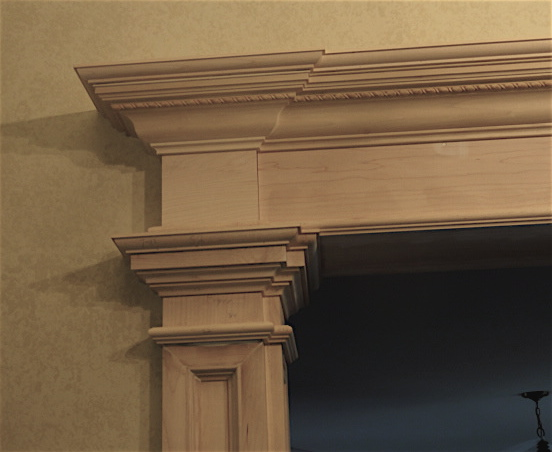 archway moldings for living room