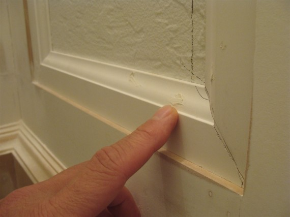 how to fill nail holes in moldings